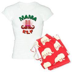 Pair it with papa elf! Elf Pajamas, Pyjamas, Bear Shop, Jingle Bell, Tee Shirts, Tees, Cute Designs, Gifts For Her, Sweatshirts