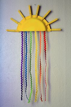 rainbow craft. Did you know that ric rac is very expensive. I had about 4 inches hanging down instead of a foot.