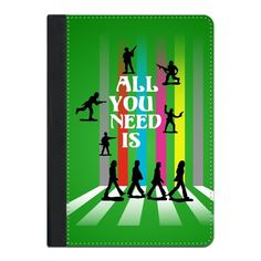 "'All You Need Is ...'  - iPad case @zippi  Anti-War interpretation of the ""Abbey Road"" album cover using toy soldier silhouettes and typography.  #graphicdesign  #digital  #society6 #amour #ipadcase #beatlefan #allyouneedislove #johnlennon #nomorewar #zippi #typography  #popart   #toysoldiers  #music  #songs  #road   #abbeyroad  #bands  #sixties #pop #rock #love #art #designs #anti-war"