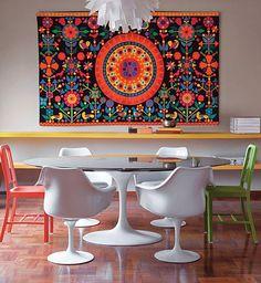 Detalhes que transformam, se tornando o ponto focal da sala, do quarto…Venha se inspirar para fazer algo assim na sua casa!