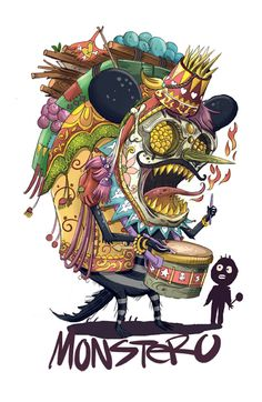 CIrcus Monkey by Monez Gusmang, via Behance