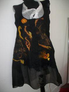 Elegant felted dress HandmadeNunofelted dress by FeltWorld51