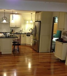 living room with common walnut floor - Google Search