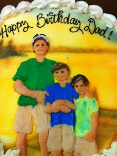 Father and sons birthday cake