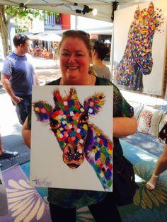 Giraffe painting by tracey keller