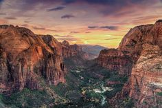 Angel's Landing and The Narrows in Zion's National Park, Utah, USA