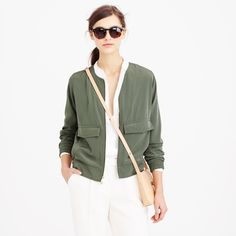 jacket and sunglasses