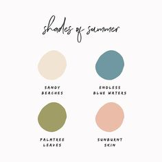 Beautiful neutral color palette with peach, green and blue. Scheme Color, Colour Pallette, Colour Schemes, Color Combos, Color Patterns, Summer Colour Palette, Summer Colours, Creative Studio, Palettes Color