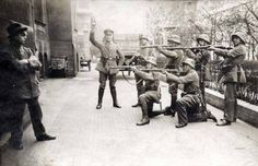German soldiers of war execute a communist in Munich, 1919