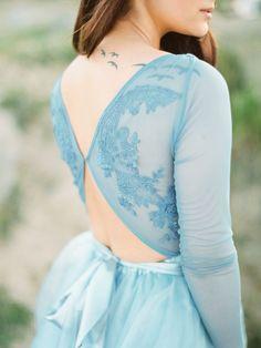 Blue wedding dress | Olga Plakitina Photography | see more on: http://burnettsboards.com/2016/01/wedding-trend-predictions-2016/