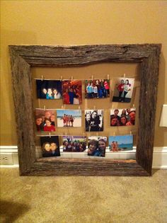 Barn wood picture frame memories Thanks Dad for your help!
