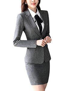 SK Studio Femmes Tailleurs Blazer Pantalons Tailleur Jupes Entreprise De Bureau 2 Pi/èces Costume Manteau