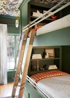 Inside a Small Bedroom Redesign Home, Small Guest Bedroom, Bed Design, Guest Bedrooms, House, Bedroom Decor, Bedroom Diy, Bedroom Redesign, Bunk Beds Built In