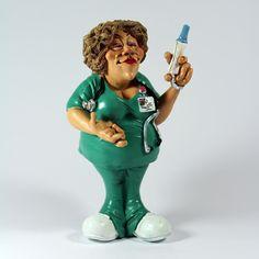 Profissões / Caricaturas - Enfermeira - Bau da Cravus