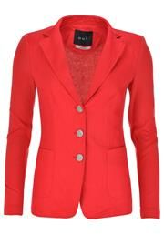 Oui Linen Front Blazer Jacket, Red