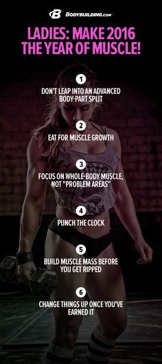 Ladies: Make 2016 The Year Of Muscle!  Building muscle isn't rocket science. With the right mindset, a straightforward approach, and these 6 simple tips, you can surprise yourself in just a few weeks!