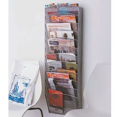 Silver Mesh Wall Mount Magazine Rack by Design Ideas  $59.49