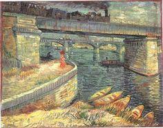 Pont sur la Seine à Asnières - Vincent Van Gogh -  été 1887  Fondation EG Bührle, Zurich (F301)