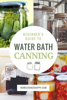 Nervous to try canning? Canning can be intimidating for a beginner, but water bath canning is the perfect place to start. This simple guide is written for everyday cooks and walks you step by step through everything you need to know. Learn how t Canning Water, Canning Soup, Oven Canning, Home Canning Recipes, Canning Tips, Dinner Recipes, Water Bath Cooking, Canning Vegetables, Veggies
