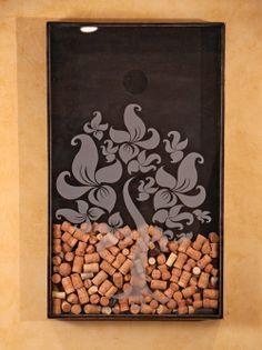 Wall Decor Wine Cork Holder 21x35. $425.00, via Etsy.