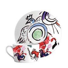 480.00$  Buy now - http://vihkk.justgood.pw/vig/item.php?t=q6k7ds42714 - Bernardaud Marc Chagall Joseph Tribe Breakfast Cup & Saucer