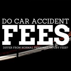 Do Car Accident Fees Differ From Normal Personal Injury Fees? Get The Facts.  Personal Injury (PI) Attorneys take cases on a contingency fee basis, which means they don't get paid until, and unless, they procure you a settlement, judgment or recovery.  Keep Reading: - http://www.zacharassociates.com/motor-vehicle-accidents/car-accident-lawyer-fees/