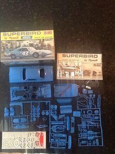 2x Vintage Jo-Han Plymouth SUPERBIRD Model Car Kits GC-1470:200 & C-102:200