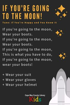 A great rhyme for outer space themes and nighttime themes! It works wonderfully with this year; Space Theme Classroom, Space Theme Preschool, Preschool Music, Preschool Lessons, Songs For Toddlers, Kids Songs, Rhymes Songs, Space Songs For Kids, Space Theme For Toddlers