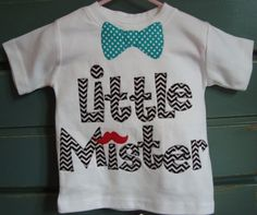 Little Mister Moustache Birthday Shirtavailable by makmaydesigns, $32.00