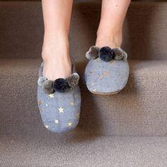 star print slippers by ashiana london | notonthehighstreet.com