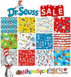 Come celebrate Seuss with Whimsical Fabric . Dr Seuss Fabric, Boy Or Girl, Whimsical, Sewing Projects, Happy Birthday, Celebrities, Pattern, Fun, Happy Brithday