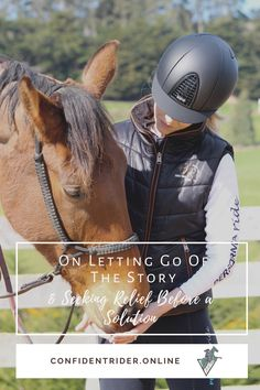 It can be a really tough gig when things start to spiral in a negative direction and throwing the towel in feels like the best (or only) thing to do. >> Confident Rider - mindset, movement and nervous system awareness for equestrians Horseback Riding Lessons, Emotional Resilience, Horse Riding Tips, Training Tips, Nervous System, Confident, Letting Go, Equestrian, Spiral