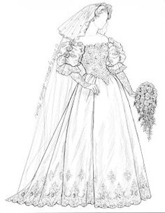 485 best coloring pages fashion images in 2019 coloring books 1920s Dresses paper dolls of historical bridal gowns