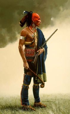 davidwrightart.com550 x 891 · jpegIroquois Warrior Indians Clothing Title: : The Warrior David Wright's painting of Wes Studi as Magwah with his big neck knife. tradgang.com