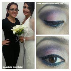 maquillaje para novia  maquilladora: Betsy Munoz  Realizado en la Escuela de maquillaje Allskincenter
