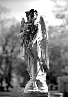 Series Of Cemetery Angels From New Orleans Royalty Free Stock ...