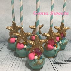 Mermaid / under the sea cake pops by Gema Sweets.