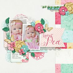 Layout using {Sweet Pea} Digital Scrapbook Kit by Krystal Hartley and Jennifer Labre available at Sweet Shoppe Designs http://www.sweetshoppedesigns.com/sweetshoppe/product.php?productid=31513&cat=767&page=3 #krystalhartley