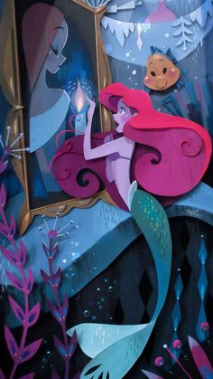 Disney WonderGround Gallery Mermaid Ariel What's A Fire Print by Brittney Lee Disney Pixar, Disney Music, Arte Disney, Disney Fan Art, Disney And Dreamworks, Disney Love, Diorama, Brittney Lee, Comic Anime