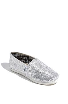 TOMS 'Classic Youth - Glitter' Slip-On (Toddler, Little Kid & Big Kid) available at #Nordstrom
