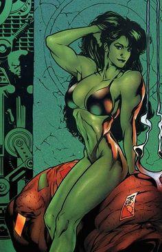 She Hulk by Adam Hughes