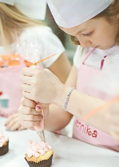 American Girl Doll Cupcake Baking birthday party via Kara's Party Ideas
