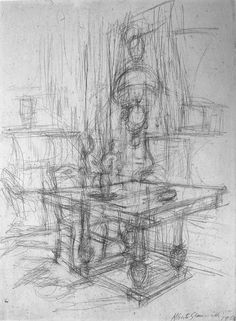 Alberto Giacometti 2 pt table and room space Alberto Giacometti, Gesture Drawing, Line Drawing, Painting & Drawing, Conceptual Drawing, Basic Drawing, Drawing Tips, Drawing Ideas, Drawing Interior