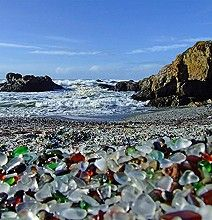 Haven't been to this glass beach, but after seeing this I plan to visit. Gorgeous. Check out the link for more images.
