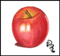 How to Color a Delicious Pink Lady Apple with Colored Pencils. In this lesson I will give you tips on how to overlay colors, blend lights and shadows, and create textures.