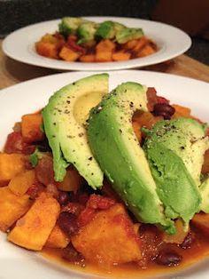 Eat Your Fruits and Veggies!: Sweet Potato and Black Bean Chili