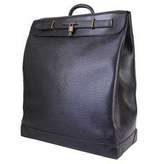 d491868a3045 Louis Vuitton Black Epi Steamer 45 Travel Bag 1990s