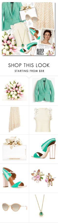 """Delightful"" by petri5 ❤ liked on Polyvore featuring J.Crew, TIBI, 3.1 Phillip Lim, Malone Souliers, Dessous, Betsey Johnson, Miu Miu and Tiffany & Co."