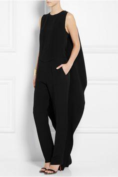 Agnona|Cape-back crepe jumpsuit|NET-A-PORTER.COM