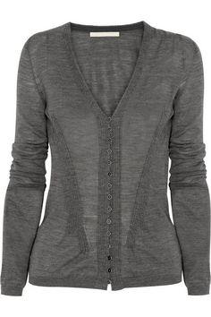 Antonio Berardi Fine-knit wool cardigan NET-A-PORTER.COM